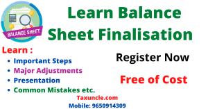 Balance Sheet Finalizations Training